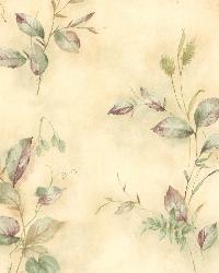 Congedi Green Leaf Sprigs  by  Brewster Wallcovering
