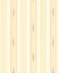 Rosette Beige Rosebud Stripe by