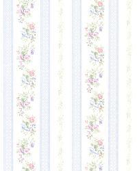 Princess Light Blue Floral Stripe by
