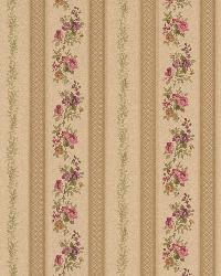 Princess Gold Floral Stripe by
