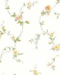 Connie White Small Floral Trail  by