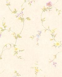 Connie Cream Small Floral Trail  by