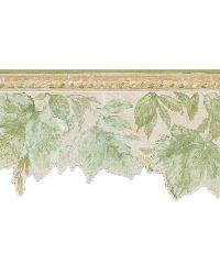 Acanthus Green Leaves Border by