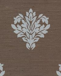 Astoria Brown Leafy Damask by