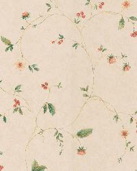 Belladonna Beige Berry And Floral Trail by
