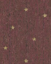 Jefferson Red Wooden Panel With Stars by