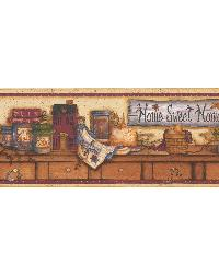 Home Sweet Home Display Shelf Border by