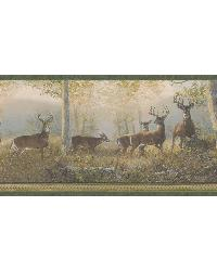 Wild Deer Border  Green Deer Border by