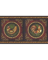 Henrietta Brown Rooster Border by