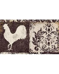 Camilla Brown Damask Chicken Border by