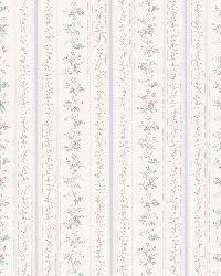 Marta Light Blue   Dainty Floral Stripe by