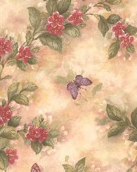 Lisa Magenta Butterfly Floral  by