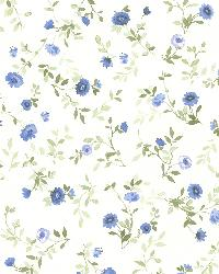 Rachelle Blue Floral Toss by