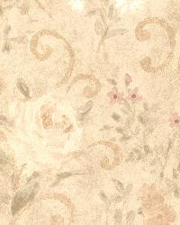Uma Beige Floral Scroll by