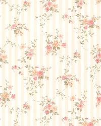 Delilah Peach Floral Stripe by