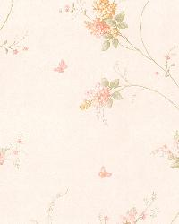 Isabelle Peach Butterfly Floral Trail by