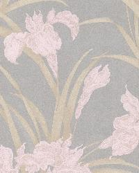 Vivianne Grey Iris Floral  by