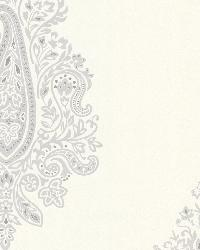 Dynasty Light Grey Paisley by