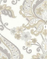 Ashbury Taupe Paisley Damask by