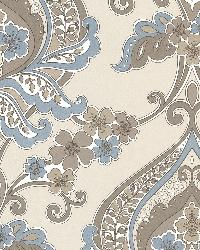 Ashbury Aqua Paisley Damask by