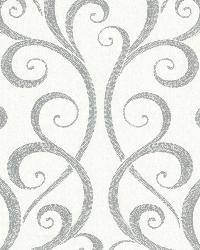Demeter Grey Glamorous Ogee Scroll by