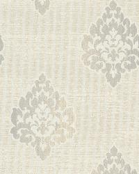 Orpheus Light Grey Transitional Damask Print by