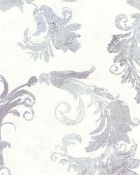 Lana Lavender Scrolling Trail by  Brewster Wallcovering