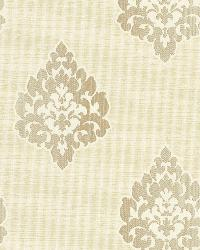 Donald Beige Transitional Damask Print by