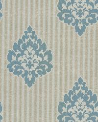 Donald Aqua Transitional Damask Print by