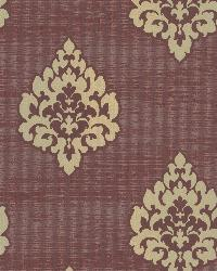 Donald Burgundy Transitional Damask Print by