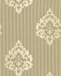 Donald Light Brown Transitional Damask Print by