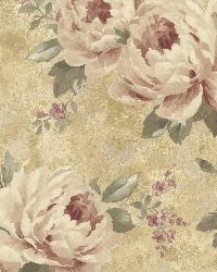 Pandora Gold Peony Trail by  Brewster Wallcovering