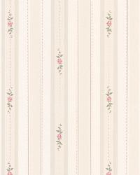 Belle Off-White Rose Stripe by