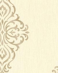 Powell Gold Damask Medallion by