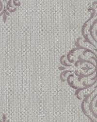 Powell Mauve Damask Medallion by