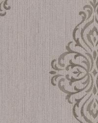 Powell Taupe Damask Medallion by
