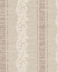 Rennie Stripe Beige Scrolling Stripe by