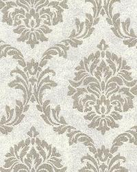 Tennyson Pewter Shimmer Damask by
