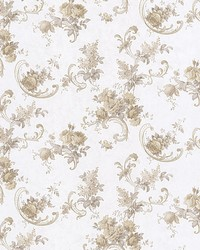 Sanquia Taupe Rose Scroll by