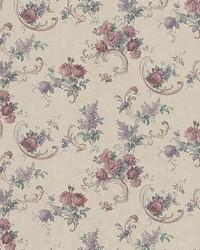 Sanquia Purple Rose Scroll by