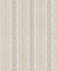 Juliette Yellow Scroll Stripe by
