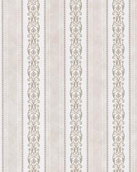 Juliette Taupe Scroll Stripe by