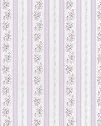 Loretta Lavender Linen Leaf Stripe by