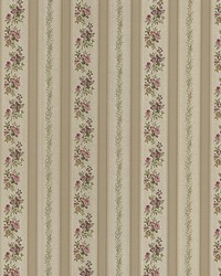 Loretta Gold Linen Leaf Stripe by