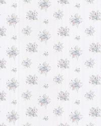 Myrna Light Blue Linen Floral Toss by