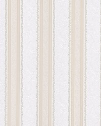 Cordelia Beige Ornate Stripe by