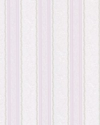 Cordelia Lavender Ornate Stripe by