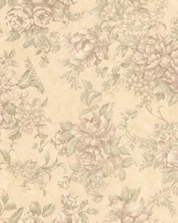 Simona Beige Floral Fruit  by