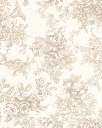 Simona Taupe Floral Fruit  by
