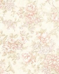 Simona Peach Floral Fruit  by
